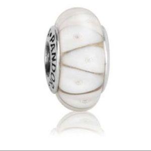 Pandora white looking glass charm